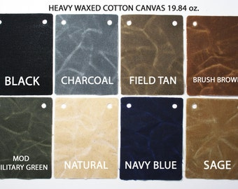 HALF YARD - heavy waxed canvas fabric - thick 19.84 Oz/sqyd -  waxed canvas - 100% cotton