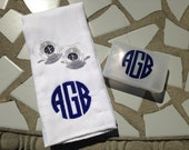 Monogrammed Burp Cloth, Pacifiers & Pacifier Case