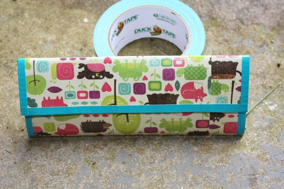 Woodland Animal Mixed Media Duck Tape Wallet