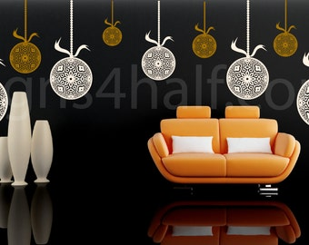Set of 5 Ornament Removable Wall Art Decor Decal Sticker Mural