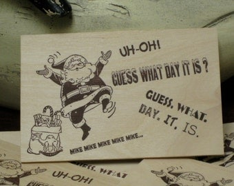 """Custom WoodCards """"What Day It Is"""" - Christmas Cards - Letterpress Printed Cards - Letterpress Christmas Cards - Hand Printed Cards"""