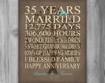 50th Anniversary Gift Golden Anniversary 50 Years Personalized