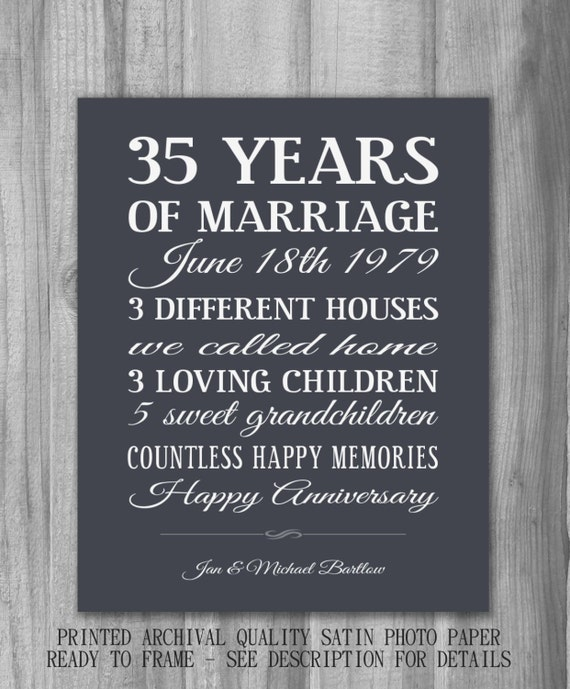 Gift Ideas For Parents 35th Wedding Anniversary : 35th Anniversary Quotes. QuotesGram