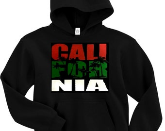 New Men's state  CALIFORNIA REPUBLIC Hoodie pullover black sweatshirt Free Shipping