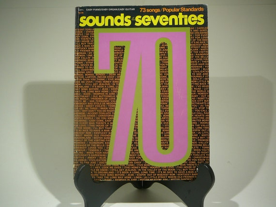 Sounds Seventies, 1970, Piano Music, vintage music book