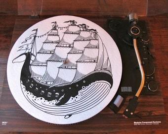 Turntable Slipmat: Whaleboat by Kyler Martz