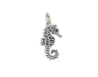Solid Sterling Silver Seahorse Charm SE4-C