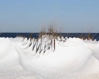 Photo Print - Sand Dunes, Winter Beach Scenes, Sandy Neck Beach, Sandwich, Cape Cod