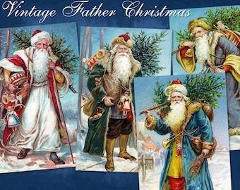 Vintage Father Christmas - Digital Download