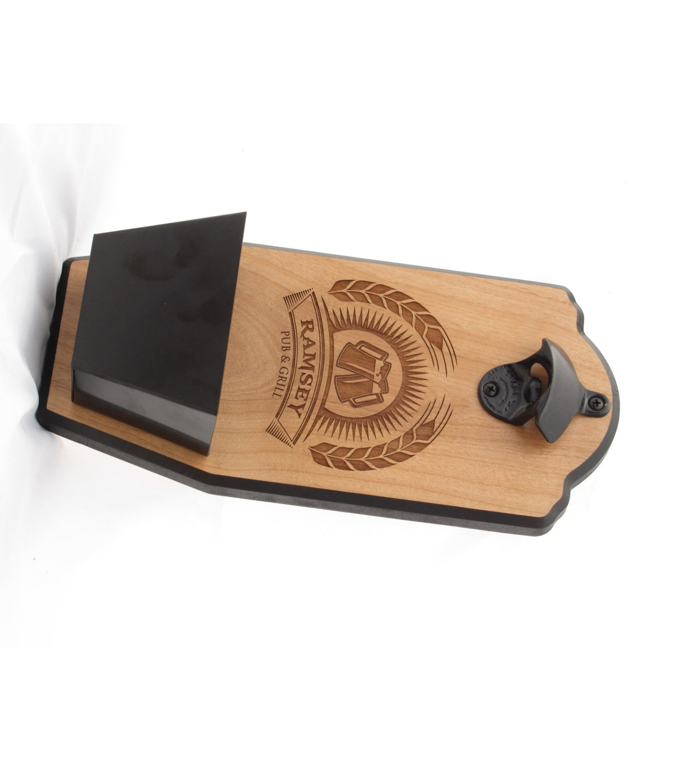 Personalized Wall Mount Bottle Opener Brew House Edition