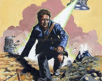 DOCTOR WHO - The Eighth Doctor ~ Dalek War  A4 Art Print (29.7 x 42cm)