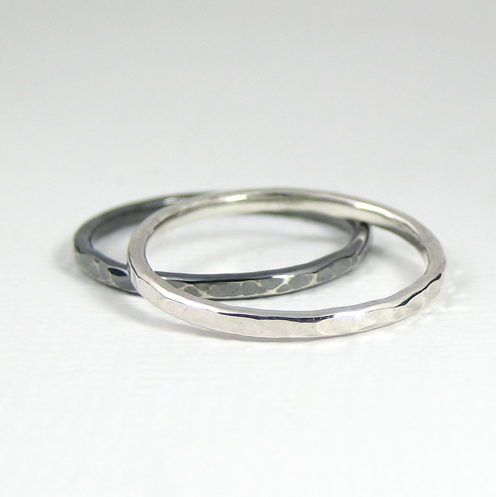 sterling silver knuckle ring set of two stacking ring