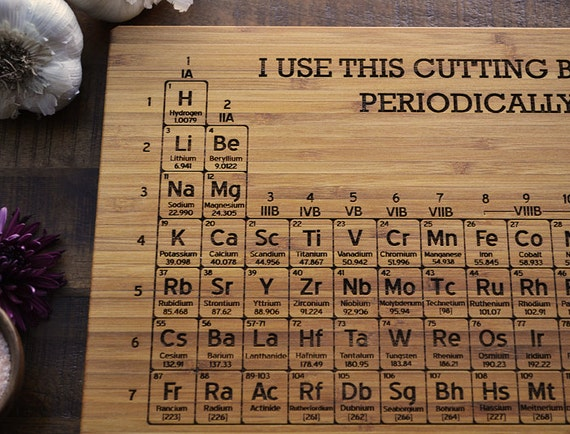 Periodic Table of Elements cutting board