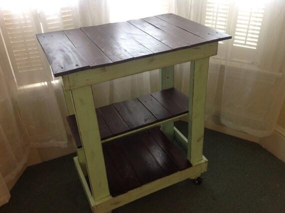 Rustic pallet kitchen cart microwave cart rustic island wood pallet