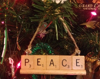 Sale: PEACE Ornament, Christmas Ornament, Christmas Decorations