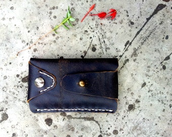 iphone 4 case iphone 5 sleeve bag pouch pocket dark brown vintage leather handmade