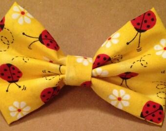 yellow ladybug bow