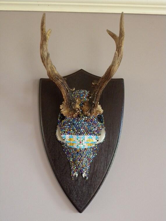 T te cr ne chevreuil avec panache d cal la d coration - Tete de chevreuil decoration ...