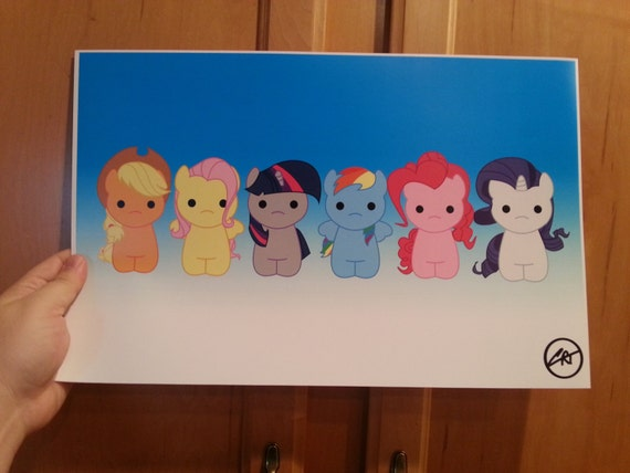 Hello Ponies print by Charles Thurston