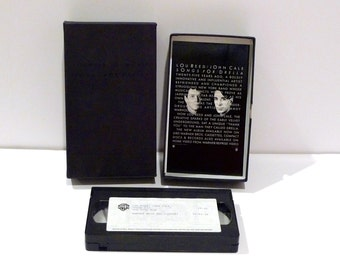 Lou Reed Vintage VHS tape John Cale Songs For Drella Press kit Andy Warhol Tribute Velvet Underground 1990s Sire Interviews