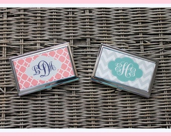 Custom Business Card Case, Personalized Business Card Case, Monogrammed Business Card Case, Personalized Gift, Office, Professional
