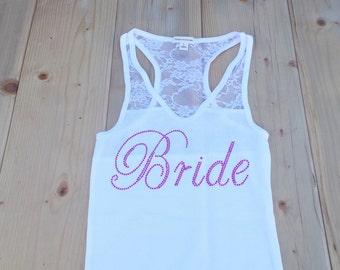 Bride Tank Top. Bridesmaid. Bachelorette Party. Maid of Honor. Team Bride. Wedding Bridal Party.