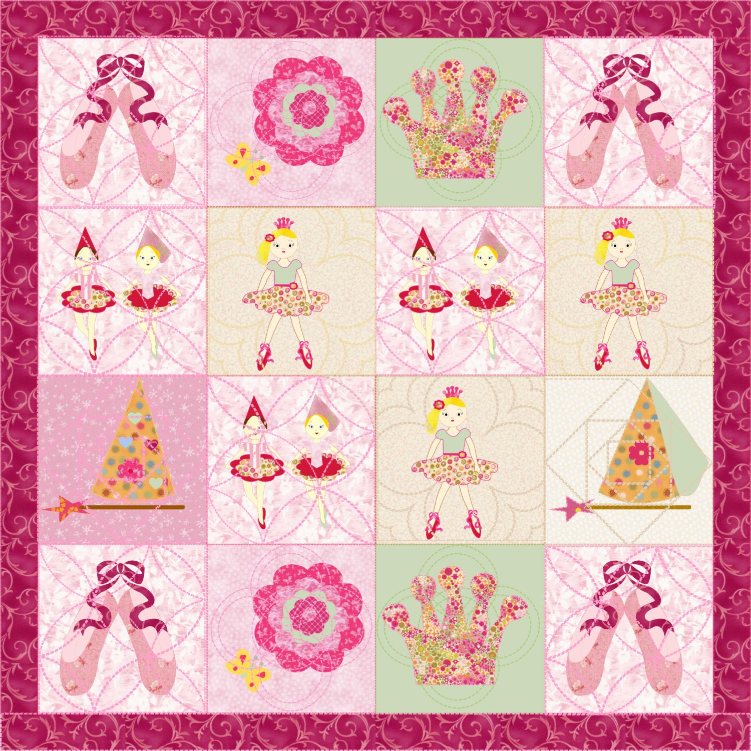 Little Girls Quilt Pattern Ballerina Quilt Quilts