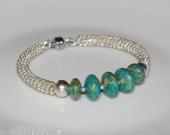 "Bracelet ""Easy to wear""-turquoise"