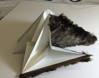 Commissioned Faux fur origami sketchbook