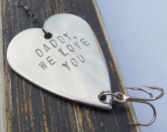 Mens Gift for Dad Personalized for Him Christmas Gift Idea for Man Best Daddy Ever Father Fishing Lure Grandpa Husband from Kid Holiday Gift