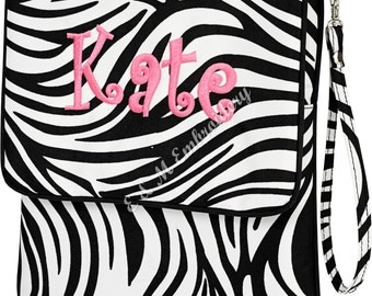 Monogrammed Padded Zebra Tablet ~ Great for Tablet, Ipad, Nook, or Kindle Case