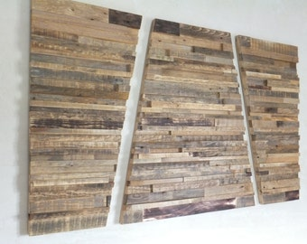 "Reclaimed Unique Wood Wall Art - 50"" x 29"" x 1""-2"" - Home Decoration - Wooden Art - Pieces Art - Unique Decoration"