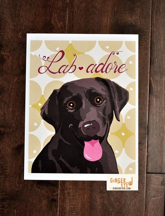 Labrador Dog Poster- Lab adore