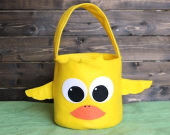 Monogrammed Duck Easter Basket Felt