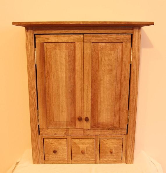 Kitchen Cabinet Spice Racks: Oak Wall Hanging Cabinet/Spice Rack