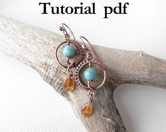 Wire wrap Tutorial, Simple earrings for beginners