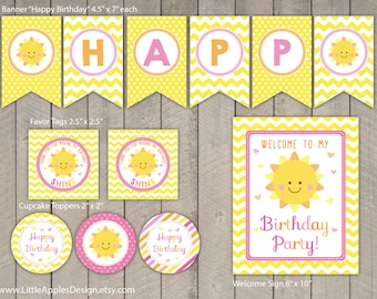You are my sunshine Birthday Package / You are my sunshine Birthday Pack / You are my sunshine Decoration / You are my sunshine Printable