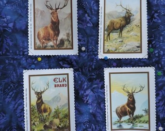 Elk quilt blocks ready to use