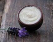 Lavender Butter, Essential Oil Salve, Unsweetened Lip Balm, Vegan, All Natural, Organic, Artisan Body Butter, Creamy Butter, Luxury Butter