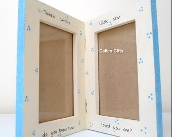 new baby photo frame double photo frame wooden frame twinkle twinkle little star do you know how loved you are
