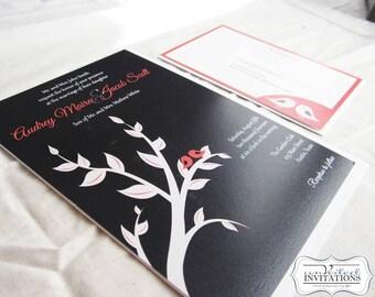 Wedding Invitation Set - Love Birds