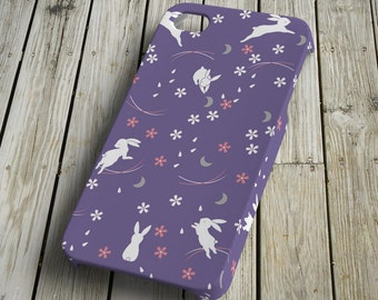 Rabbits - purple - iPhone 4/4S Case - iPhone 4/4S Cover - Plastic iPhone 4/4S Case