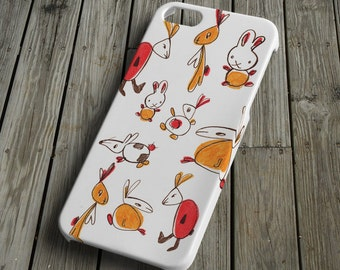 Rabbits - colorful - iPhone 5 Case - iPhone 5 Cover - Plastic iPhone 5 Case