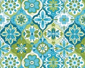 SALE - Blue Green Ceramic Fabric - Splendor by Lila Tueller Designs from Riley Blake. 100% cotton, c3913 - Blue