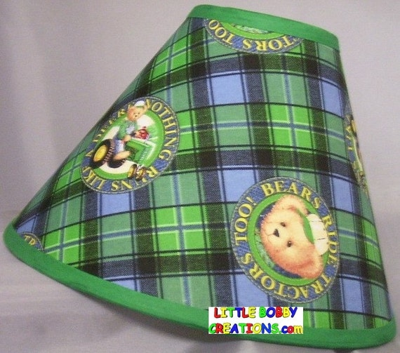 Green John Deere Lamp Shade : John deere fabric lamp shade shades to by