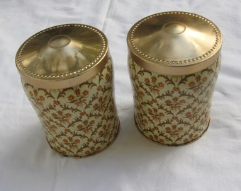 2 pieces old tin cans: Tchibo coffee cans made of tin (2 pirces). Probably 50s / 60s. From Germany. Vintage