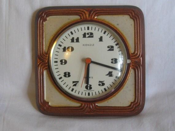 70s 80s style original kienzle quartz rustic kitchen clock