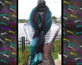 Unique Lite weight  Shades of Blue Cowl Neck Infinity Scarf