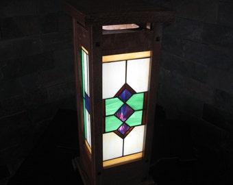 Prairie style table lamp
