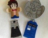 Will NOT Ship for Easter doctor who finger puppets singles